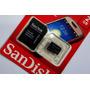 Cartão De Memória Micro Sd 2gb Sandisk Lacrado + Adapta 3d@
