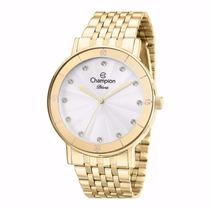 Relógio Champion Banhado A Ouro 18k Cn29703 - Original + Nf