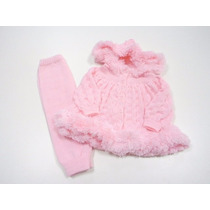 Conjunto Agasalho Casaco Infantil Calças Trico Inverno 2016