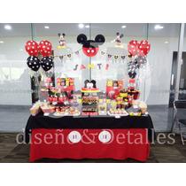 Mesa De Dulces Infantil Temática Mickey Mouse
