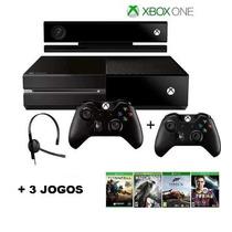 Xbox One 500gb+kinect+3jogo+2controle+12xs/juros+fretegratis
