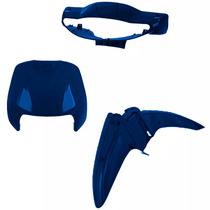Kit Carenagem Para Biz 100 Ano 2000 - Azul Metálico