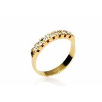 /anel Rommanelfolheado Ouro 18kmeia Aliança Aparador 510025
