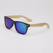 Óculos De Sol De Madeira Bambu Bamboo Novidade 10% Off