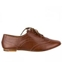 Sapato Feminino Oxford Luz Da Lua Couro S59107 Original+nf