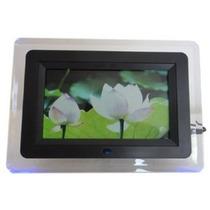 Porta Retrato Digital 7 Pol Videos Usb Mp3 C/ Controle Preto