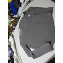 Polera Hollister California Talla M Manga Larga Color Gris