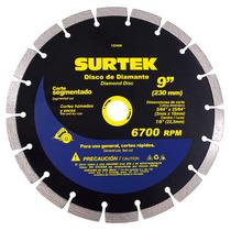 Disco De Diamante Corte Segmentado 9 Surtek 123468