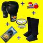 Kit Muay Thai Jugui Completo Luva Caneleira Bandagem Bucal