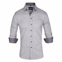 Camisa Elastizada Rayada Importada - Quality Import Usa