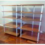 Rack De Audio Y Video. Mueble En Melamina Y Aluminio