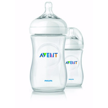 Set De 2 Teteros Avent Natural 9oz/260ml Anticolicos