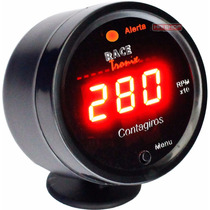 Contagiros Rpm Digital Carro Racetronix Automotivo 52mm Copo