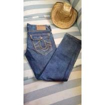 Pantalon - Jeans Marca True Religion Talla 34 Straight- Slim