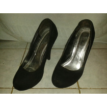 Zapatos Dama Negro Talla 36 Poco Uso, En Buen Estado.