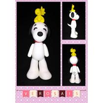 Adorno De Torta Snoopy Porcelana Fria Frozen