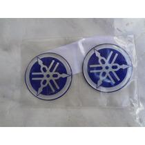 Promoção! Par De Diapasão Emblema Yamaha 50 Mm Na Cor Azul