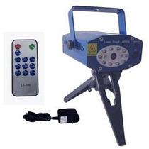 Mini Laser Verde Rojo Leds Azul Audioritmico Control Remoto