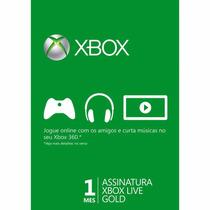 Xbox Live Gold 1 Mês - Envio Imediato