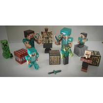 Minecraft Kit 19 Peças Boneco Brinquedo Frete Grátis