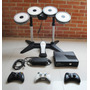 Xbox 360 Slim 320gb Rgh + Bateria + 3 Controles + Cable Hdmi