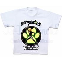 Camiseta Cat Noir Blusa Miraculous Cat Noir Roupas