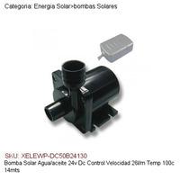 Bomba Solar Agua/aceite 24v,dc Control Vel,26l/m,100c,14mts