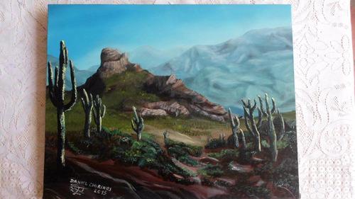 Cuadro Al Oleo Retratos Realista Desierto Paisaje Dibujos Bs 0 83