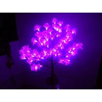 Árvore Abajur Flores 64 Leds Decoração Luminária 60cm - 110v