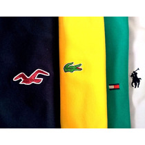 Kit 5 Camisetas Básicas Lisas - Polo Ck Lacoste Armani Tommy