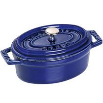 Panela Caçarola Oval 11cm Ferro Fundido Azul Marinho - Staub