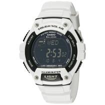 Casio Mens Classic Blanco Tough Solar Digital Reloj