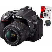 Nikon D5300 Kit 18-55 Mm Vr Wifi+ Memoria + Bolso !!