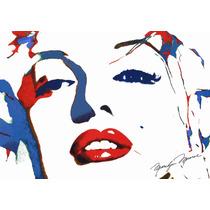 Lienzo Tela Poster Marilyn Monroe Serigrafía 50 X 71 Cm Arte