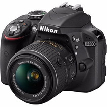 Nikon D3300 Kit 18-55 Reflex 24mp Full Hd Camara Nueva Gtia