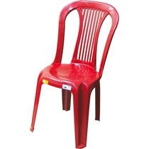 Cadeira Plástica S/ Braço Vinho Antares P/ Adultos