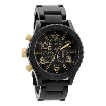 Relógio Masculino Nixon 42-20 Chrono Matte Black Gold