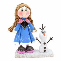 Centro De Mesa Fofucho Frozen Ana Olaf Foamy Cumpleaños