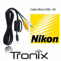 Cable Av Rca Eg-cp14 Nikon Coolpix S620 D5000 P90 L100 L19