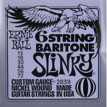 Set Cuerdas Ernie Ball 2839 13-42 Baritone Slinky Guitarra