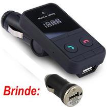 Transmissor Fm Veicular Bluetooth Usb/sd +brinde Carregador!