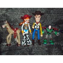 Lote 4 Figuras De Toy Story Con Luz Jessy Caballo Buzz Woody