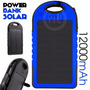 Power Bank Solar 12,000 Mah Bateria Portatil Usb Lampara