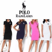 Kit Com 5 Vestido Polo Ralph Lauren Tecido Piquet Pronta Ent
