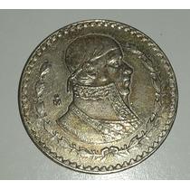 Moneda Plata Mexico Un Peso 1966 *169