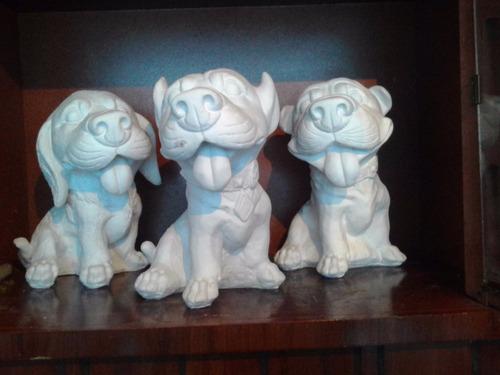 Alcancias de yeso ceramico blanco para pintar perros - Angelitos de yeso ...