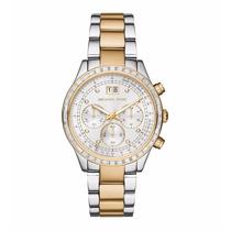 Relógio Feminino Michael Kors Prata/dourado Mk6188 Com Caixa