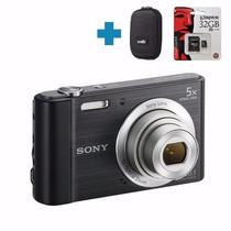 Sony W800 20mp + Memo 32gb C10 + Funda Y Garantía Alclick