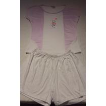 Pijama Blusa Branca Com Bordado E Shorts Branco - Fofuchos