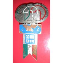 Placa De Juez Panamericanos 1975